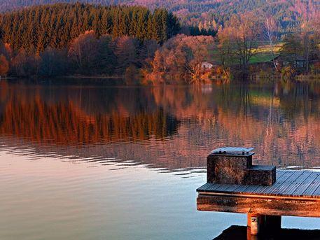 Romantischer Herbstabend am Badesee 5 | Landschaftsfotografie. Klaffer am Hochficht, Österreich / Austria