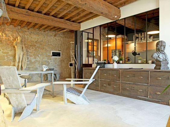 une verri re de style atelier style and atelier. Black Bedroom Furniture Sets. Home Design Ideas