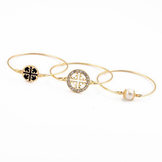 Nouveau Design exquis fleur ronde motif Bracelet de perles mis 2015 mode Pulseira Bijoux pour femmes dans Bracelets rigides de Bijoux sur AliExpress.com | Alibaba Group