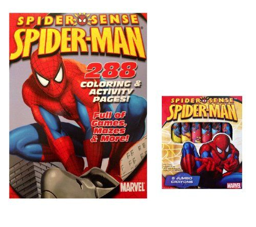 Spidermanman Jumbo Coloring And Activity Book With Crayons Visit The Image Link More Details It Is An Coloring Books Spiderman Coloring Love Coloring Pages