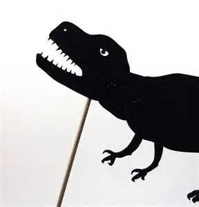 Dinosaur shadow puppet pattern