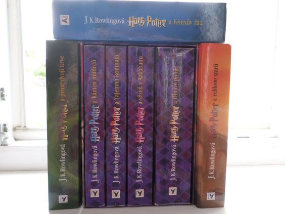 My Harry Potter series! I absolutely love Harry Potter! It's Czech edition. :)