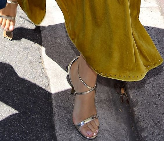 blake lively in jimmy choo hesper ankle strap sandals