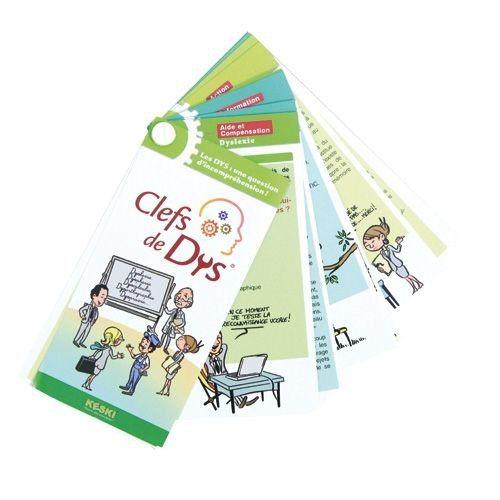Un jeu abordant tous les troubles DYS : dysphasie, dyslexie, dysgraphie… Le processus pédagogique est conçu pour trouver « faire comprendre » en se confrontant à des épreuves, en enrichissant ses connaissances sur ces troubles, et en identifiant les aides, ou les attitudes adaptées à chaque trouble DYS. 40 cartes. Dim. 16 x 8 cm. Dès 8 ans.