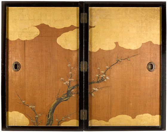 Kano School (Edo period) Flowering Plum