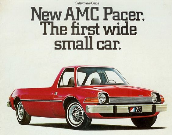 AMC pacer utility vehicle. Looks even wierder than the car which had different sized doors on each side