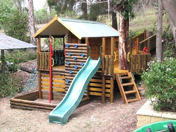 Homemade Forts Kids Cubby Houses And Play Gym On Pinterest