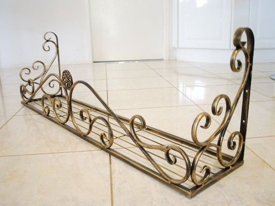 Details About Wrought Iron French Style Wall Flower Pot
