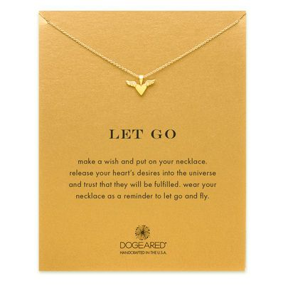 let go winged heart necklace, gold dipped - Dogeared