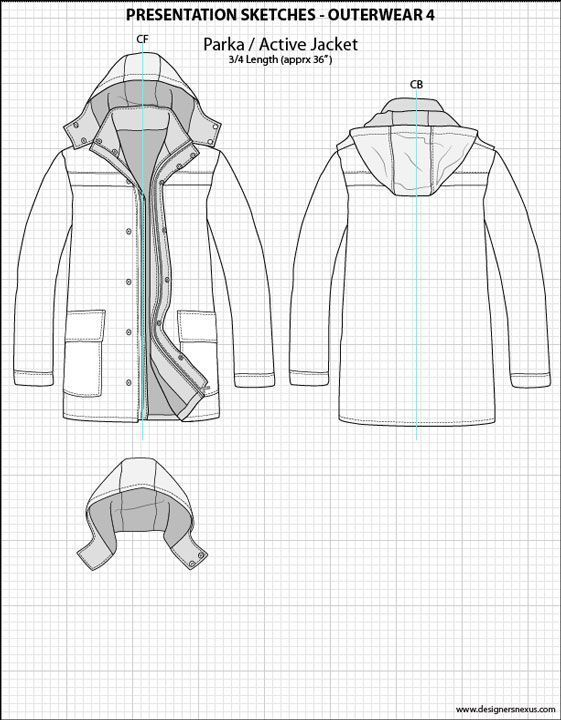Mens Illustrator Flat Fashion Sketch Templates Presentation Sketches Outerwear Sketch Templates Ideas Of Ske Mode Design Vorlage Mode Zeichnen Illustrator