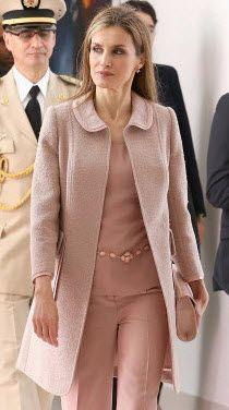 Felipe Varela blush pink tweed coat. Debuted July 2014
