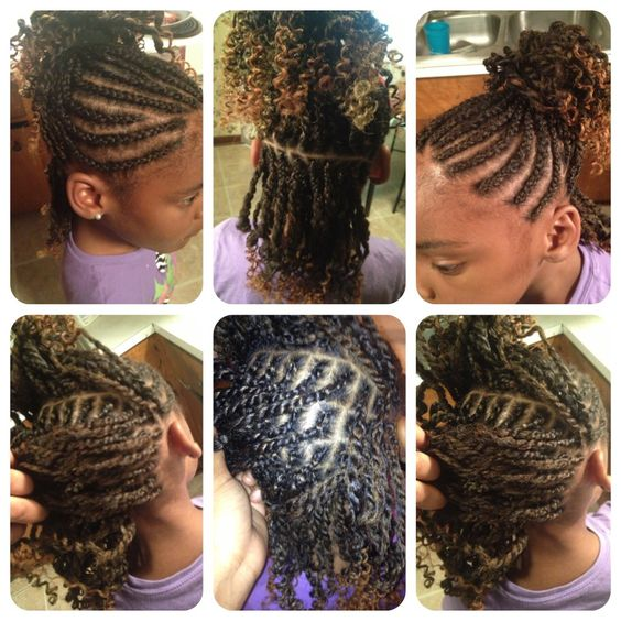 Peachy Girls Little Girls And Braids On Pinterest Hairstyles For Women Draintrainus