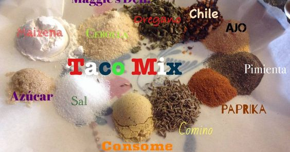 Fabulosa receta para Sazonador para  pollo o carne . Esto es un sazonador para hacer tacos  estilo TexMex ,  queremos aclarar no son tacos Mexicanos , al estilo TexMex  se le denomina alas recetas  tejanas Mexicanas , que viene siendo una especie de mezcla para Mexicanos  que viven en los Estados  Unidos  principalmente en Texas.