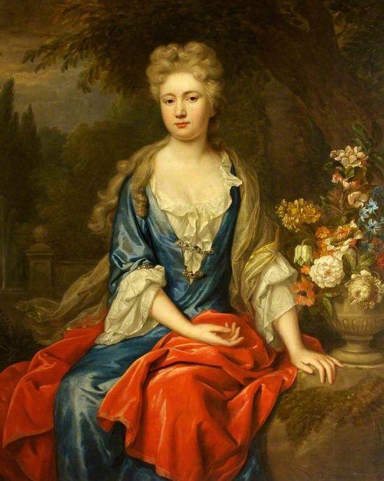 Mary Chardin.  Tercera duquesa de Davenport. 1699. Jan van der Vaart.
