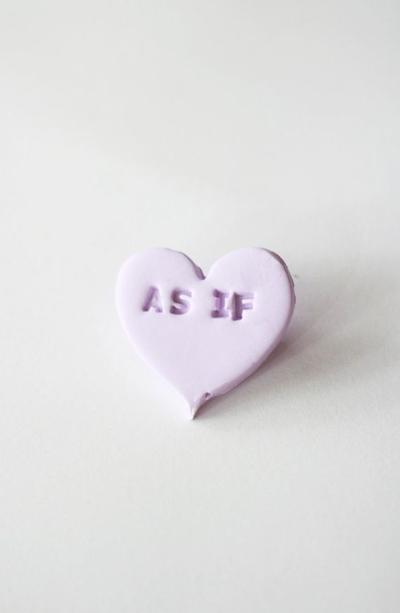 As If Conversation Candy Heart Badge by wewerewarriors on Etsy, $14.00