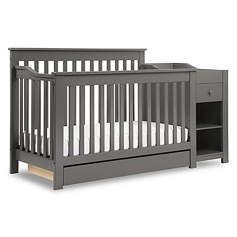 Davinci Piedmont 4 In 1 Crib And Changer Combo In Slate Crib And Changing Table Combo 4 In 1 Crib Cribs