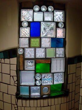Hundertwasser, interiores, detalle de ventana