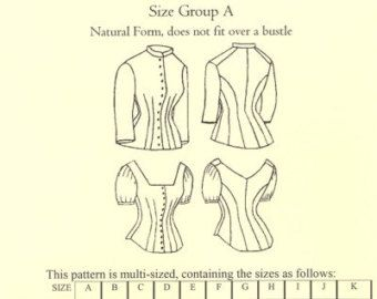 TV420 - Truly Victorian #420, 1879 Cuirass Bodice with Evening Option Sewing Pattern