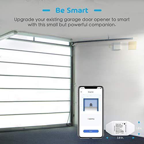 Meross Smart Wi Fi Garage Door Opener Remote App Control Compatible With Alexa Google Assistant And I Garage Doors Garage Door Opener Garage Door Controller