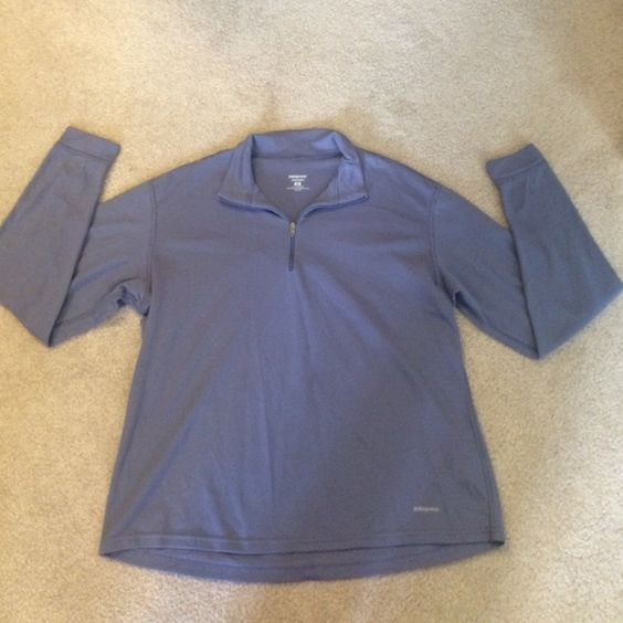 Patagonia Capilene Purple Jacket Crew Size Medium Patagonia Capilene jacket, 1/4 zip, silvery purple color, size Medium, in very good condition. Patagonia Jackets & Coats