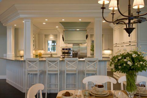 white kitchen with wainscoting
