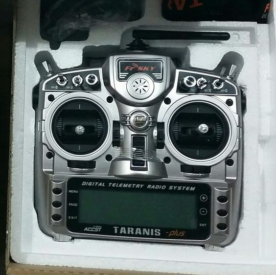 Taranis X9D plus for quad racing.
