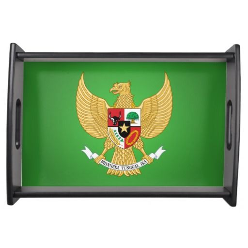 Indonesian national emblem Tray Service Trays