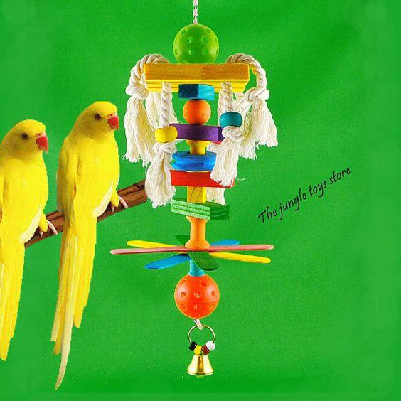 Jouets d'oiseaux de 14''  35 cm  à suspendre par TheJungleToysStore