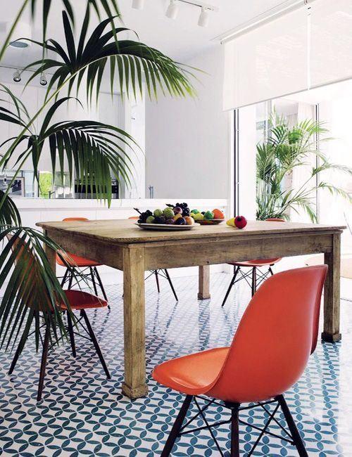 Cocina Baldosas hidraulicas vintage / Suelos hidraulicos / Tile floor: