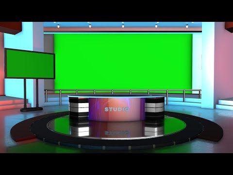Green Screen Studio Desk For Kinemaster Adobe Premiere And Edius Youtube Free Green Screen Greenscreen News Studio