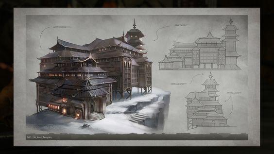 Lin Kuei Temple Concept Art