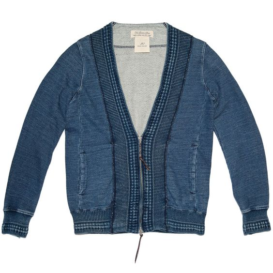 ++ remi relief indigo fleece cardigan