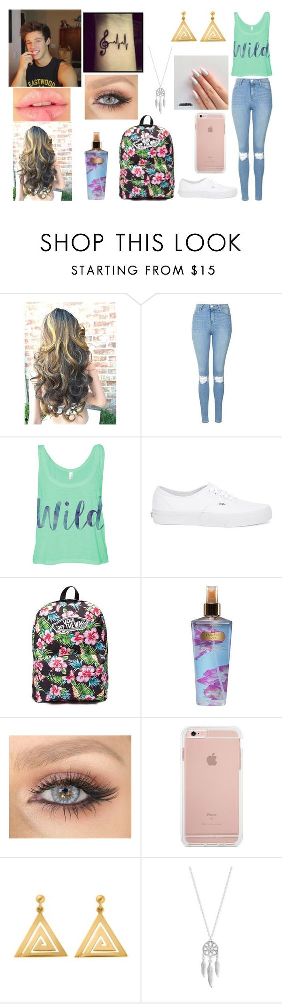 """""""She Bad By Cameron Dallas"""" by jblover-1fan ❤ liked on Polyvore featuring Topshop, Vans, Victoria's Secret, ChloBo and Lucky Brand"""