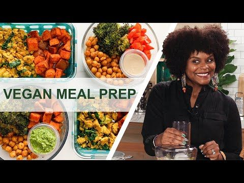 How To Meal Prep 12 Easy Vegan Recipes In 90 Minutes For A Beginner Youtube In 2020 Vegan Recipes Easy Vegan Recipes Beginner Vegan Meal Plans