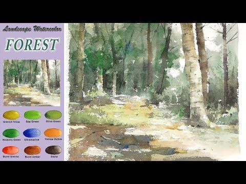 Sans Croquis Aquarelle Paysage Foret Wet In Wet Arches Rough