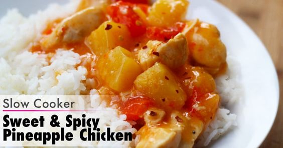 dump recipes: slow cooker Pineapple Chicken