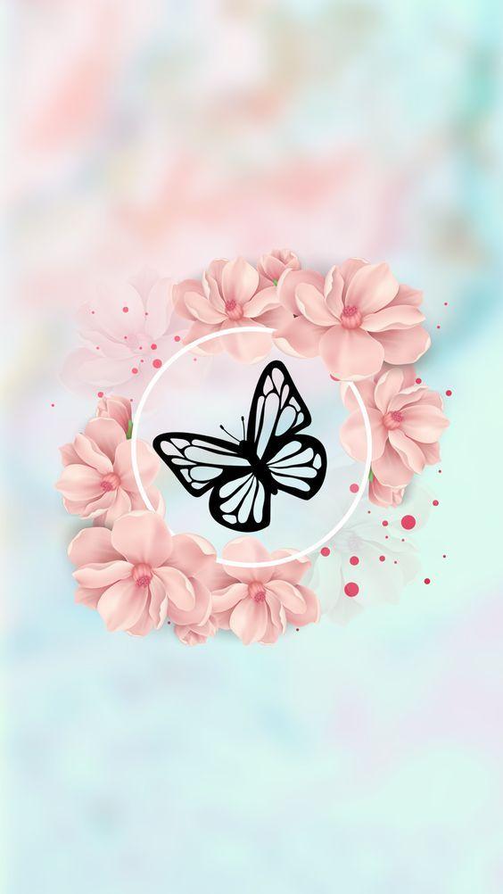 Imagem De Background Butterfly And Pattern Cute Wallpaper For Phone Flower Phone Wallpaper Pink Wallpaper Iphone