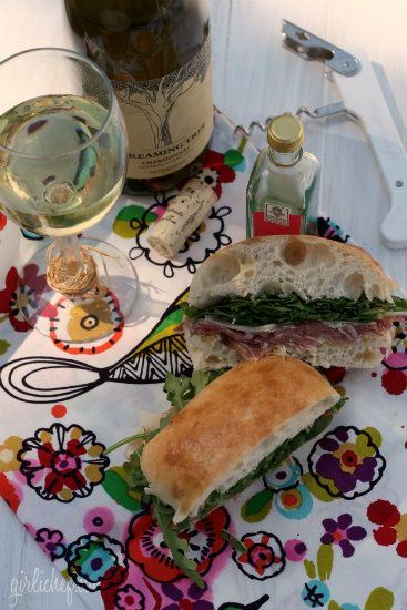 Prosciutto, Parmesan, and Arugula Sandwich