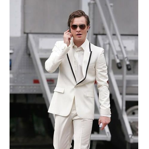 Custom 3 Piece Off White Slim Fit Casual Dress Suits for Prom