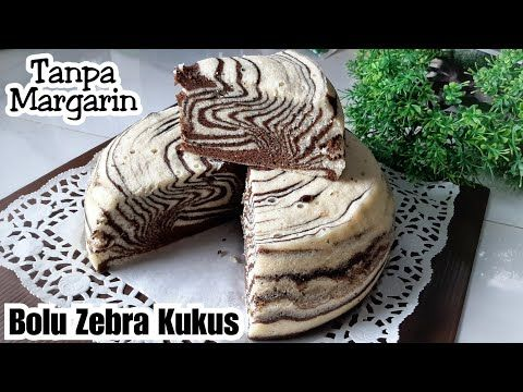 Resep Bolu Zebra Kukus Super Lembut Anti Seret Takaran Sendok Youtube Bolu Zebra Super