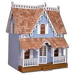 @Overstock - Arthur Dollhouse Kit - This Victorian-style dollhouse kit will delight your little one. The exterior features silk-screened windows, railed front porch, and gingerbread trim to give it a realistic look, while four interior rooms offer plenty of space to play house.   http://www.overstock.com/Sports-Toys/Arthur-Dollhouse-Kit/3458264/product.html?CID=214117 $40.99