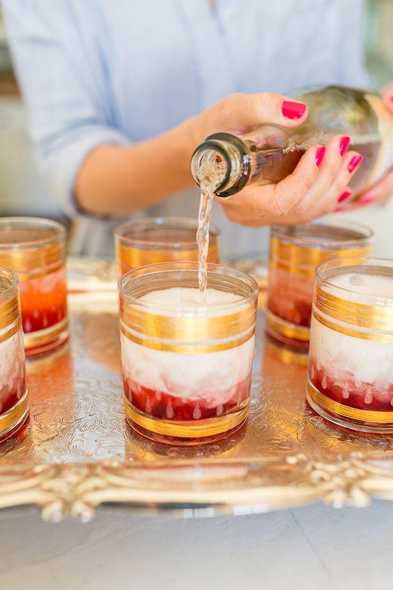 Lovely Libations: Blackberry Champagne Garden Cocktail