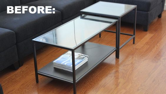 How to Make Over a Cheap Coffee Table into a Stylish Gem