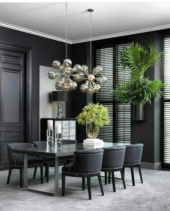 Beautiful Black Dining Tables for luxury home decoration! #designlimitededition #disegnideas #decorationideas #decorideas #design #homedesign #interiordesign #interiordecorationideas #moderndiningtables #modernideas #diningtablesideas #blackdiningtables #blacktables #blackdiningtablesideas