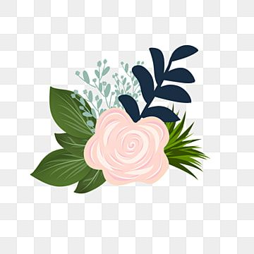 Simple And Sweet Wedding Flowers Bunga Alam Musim Panas Png And Vector With Transparent Background For Free Download Flower Clipart Floral Watercolor Pink Watercolor Flower