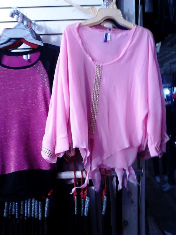 Blusa De Moda En Gasa Para Dama Colores Neon Y Basicos