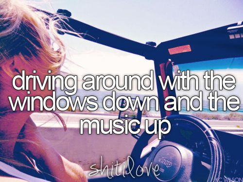 driving around with the windows down