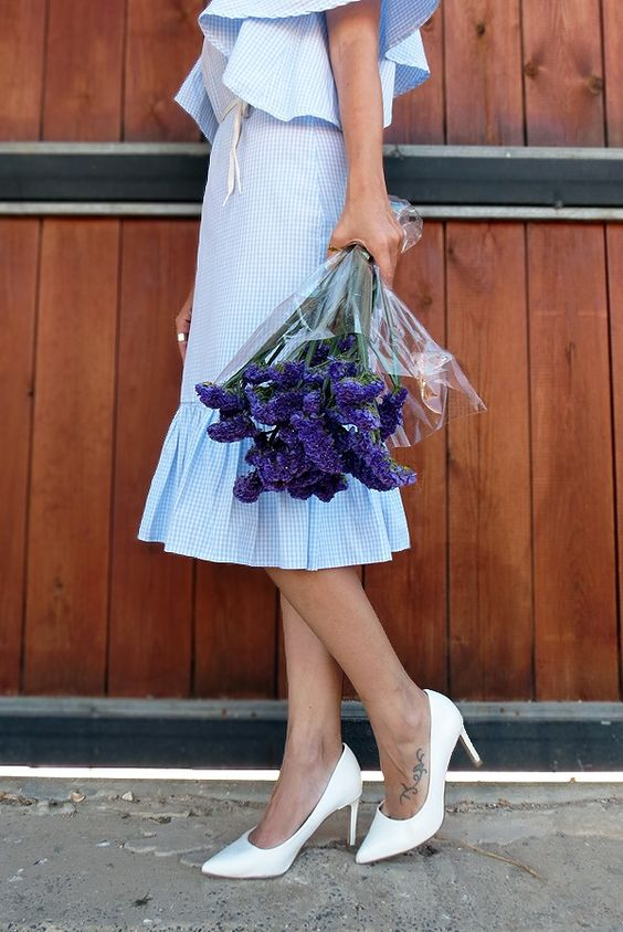 // fresh //  #gingham #details #flowers #babyblue