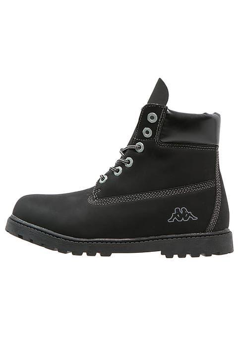 Kappa Kombo Mid Obuwie Hikingowe Black Grey Czarny Zalando Pl Black And Grey Timberland Boots Black