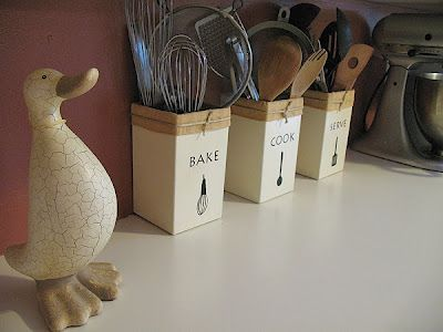 cute organization for the kitchen. If only I had the counter space...